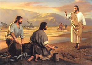 Jesus calls the disciples by the sea