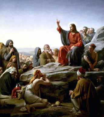 Jesus Preaches the Sermon on the Mount