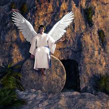 Angel Sitting on the Stone of Christ's Tomb Matthew 28