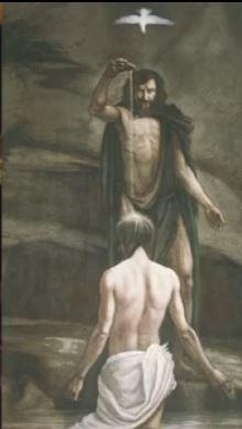 Jesus' Baptism Spirit Descends