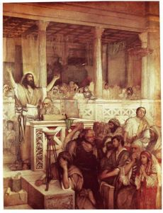 Jesus Teaching at Capernaum