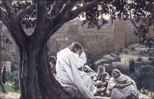 Jesus speaks about the destruction of the temple