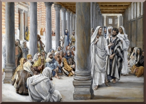 Jesus in the Temple Colonnade of Solomon