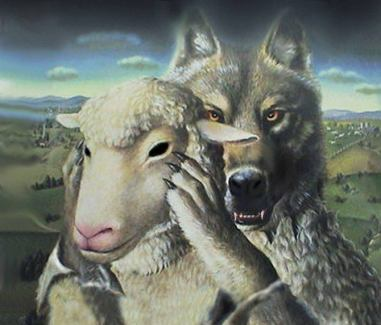 Wolf in the Church with Sheep