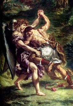 Jacob Wrestling with the Angel, Eugene Delacroix c. 1861