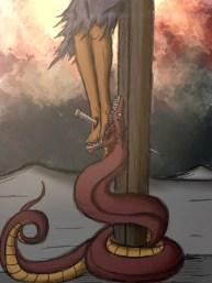 Jesus Crushes the Serpent's Head Cross