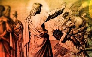 Jesus Rebuking Demon