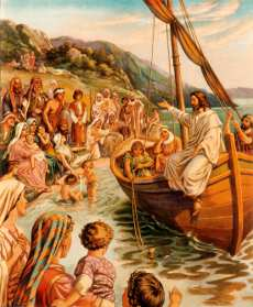 Jesus Teaches from Peter's Boat