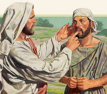 Jesus Heals the Deaf and Mute Man Mark 7