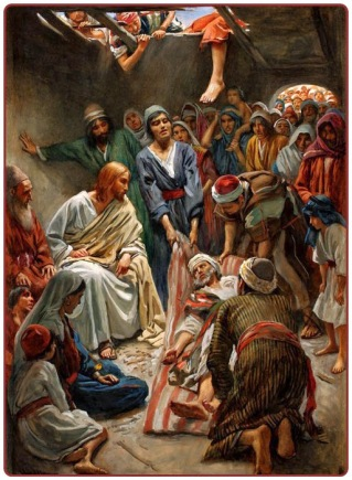 Jesus Heals the Paralytic Lowered from the Roof