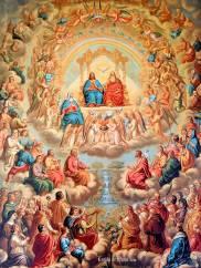 All Saints gathered around the throne