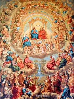 All Saints gathered around the throne